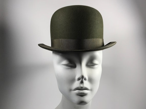 Womans Derby Bowling Hat . Antique Edwardian