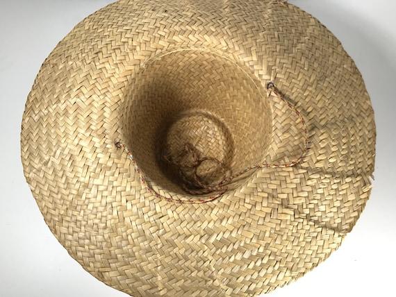 Pink Straw Sun Hat . Wide Brim Woven . Summer Bea… - image 4