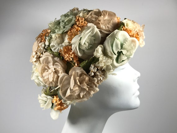 Retro Flower Garden Hat 60s