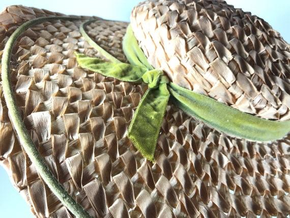 Straw Sun Hat . Wide Brim Woven . Summer Beach . … - image 6