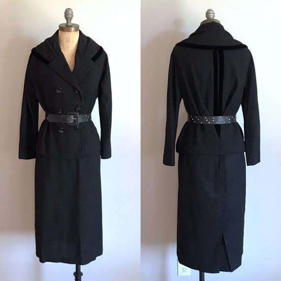 Lilli Ann Black Suit . Classy Outfit . Small S