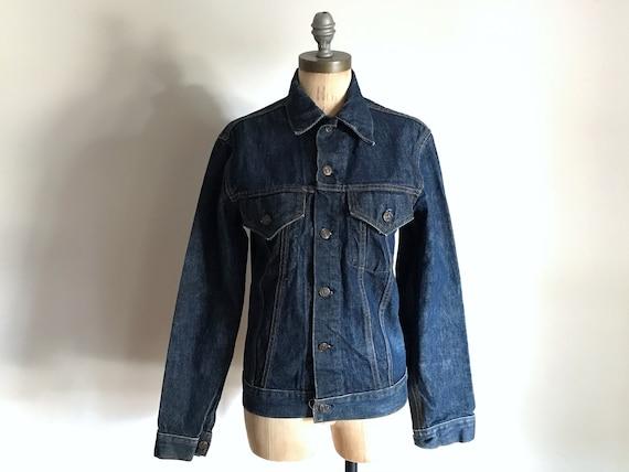 Levis Blue Jean Denim Jacket Big E . 1960s Mens Wo