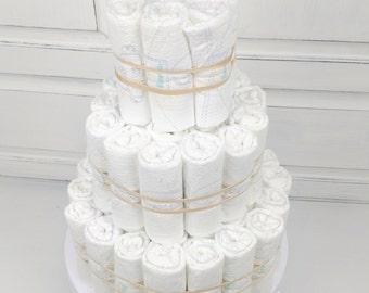 Diaper Cake, DIY PLAIN UNDECORATED Diaper Cake, Baby Shower Decoration, Newborn Gift, Diaper Cake for Boy or Girl, Baby Diaper Cake