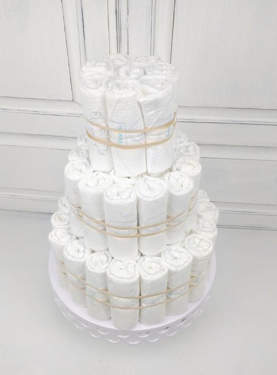 Diaper Cake DIY PLAIN UNDECORATED Diaper Cake Baby Shower Decoration Newborn Gift Diaper Cake for Boy or Girl Baby Diaper Cake