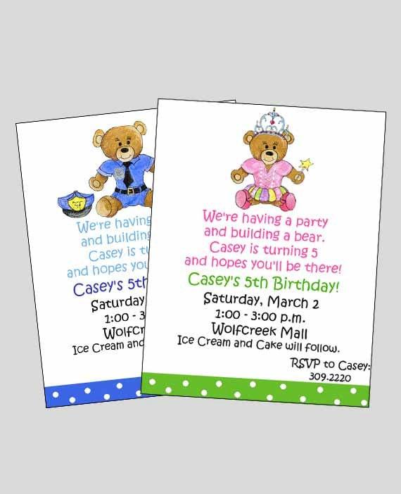 build a bear birthday invitation build a bear party boy etsy