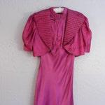 Hot Rio Nights Dancing - Vintage 1930s Cerise Magenta Rayon Dress w/Bolero Jacket  TLC Study - 0/2