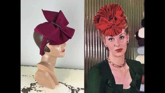 Her Face Was Resting - Vintage 1940s WW2 Magenta W