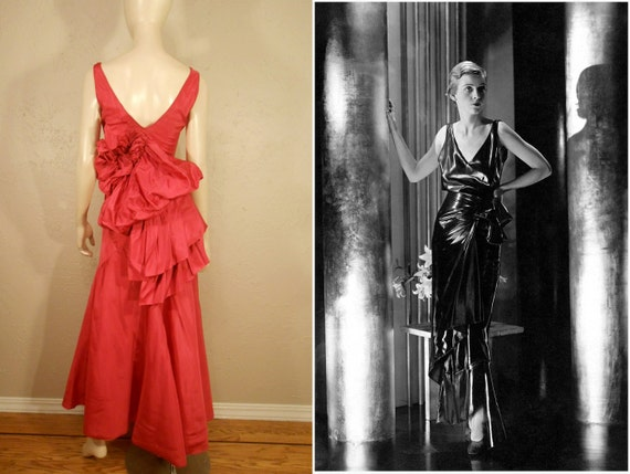 Orchids in the Moonlight - Vintage 1930s Hot Pink