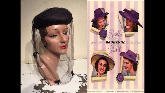 She Was an English Violet - Vintage 1940s Dark Plu
