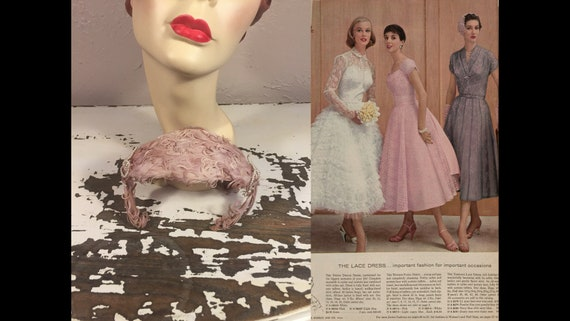 Wedding Gossips - Vintage 1950s Mauve Pink & Pearl
