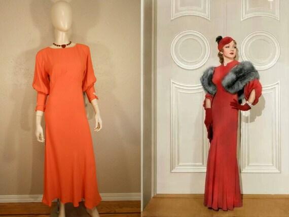 We Met Them in Biarritz - Vintage 1930s Pumpkin Or