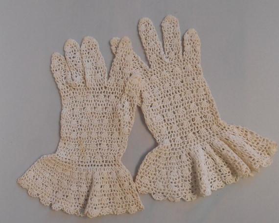 Summer Wedding 1931 - Vintage  1930s Ivory Croche… - image 3
