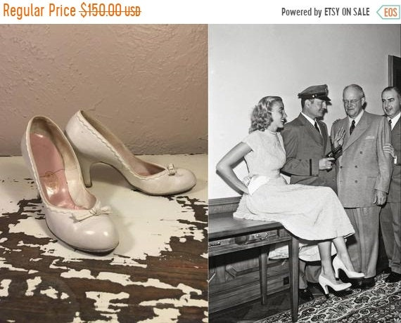 50% OFF She Won That Contest - Vintage 1940s 1950s