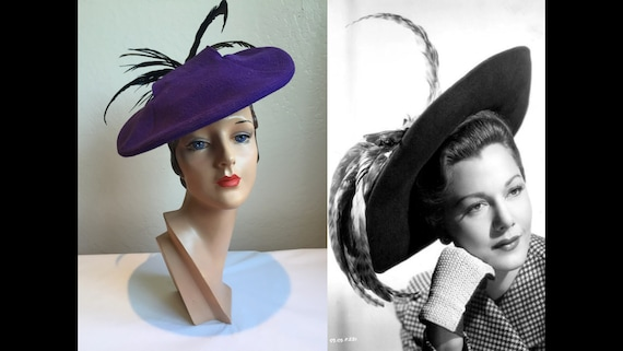 She Was an English Violet - Vintage 1940s Plum Pur