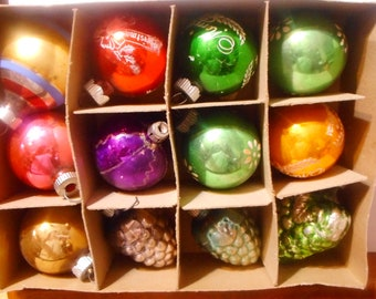 Old Glass Ornaments Etsy