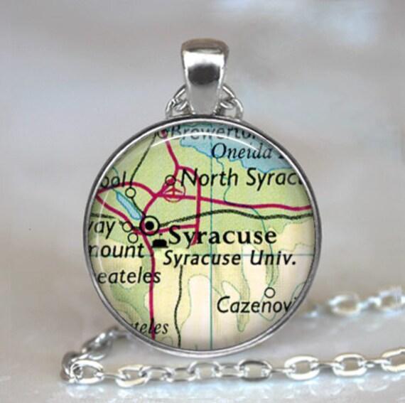 Syracuse University necklace, Syracuse University pendant graduation gift  alumni gift student gift Syracuse New York key chain key ring