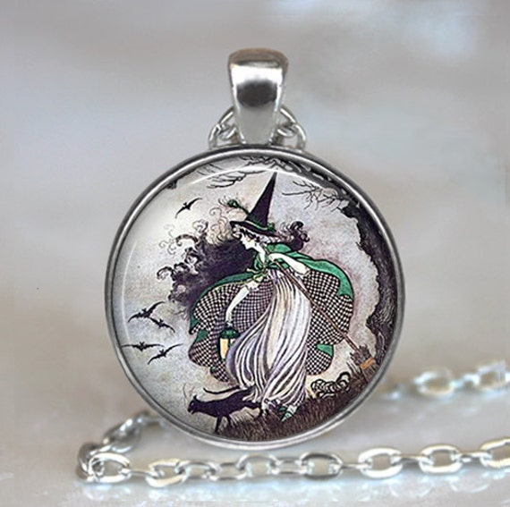 Fairy tale witch pendant witch necklace witch jewelry etsy image 0 aloadofball Image collections