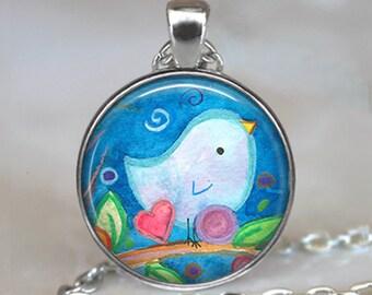 Bluebird of Happiness pendant, bluebird pendant bluebird necklace bluebird art pendant bird lovers gift key chain key ring key fob
