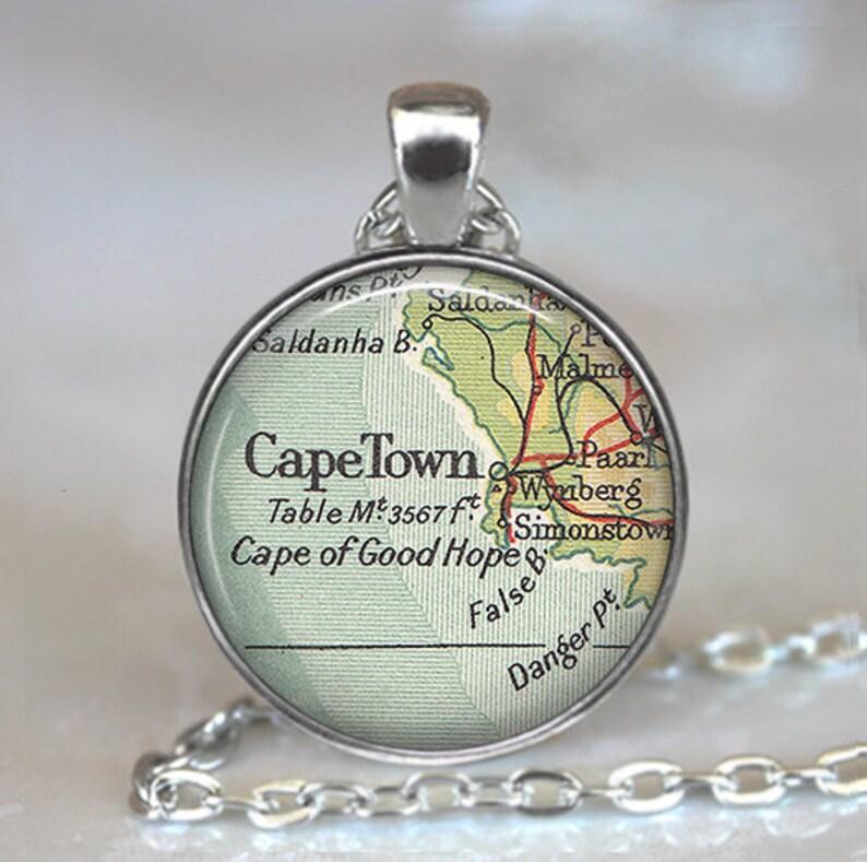 Cape Town map pendant Cape Town pendant Cape Town necklace | Etsy