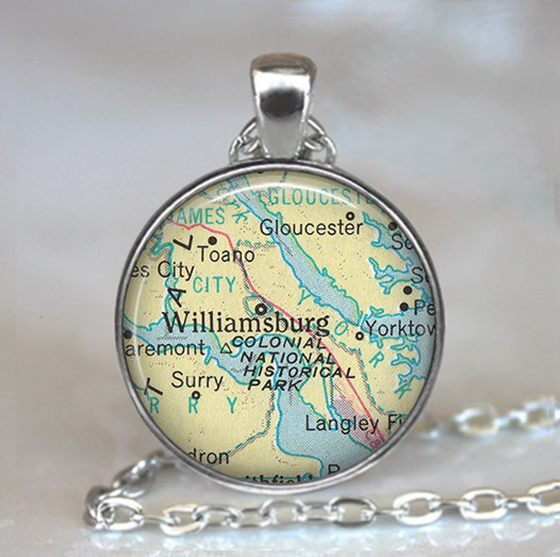 Williamsburg, Virginia map pendant, Williamsburg map necklace Langley on map of charleston, map of fries, map of emerald mound, map of windsor heights, map of the brooklyn, map of west branch, map of cedar, map of university heights, map of firethorne, map of gordonsville, map of brookneal, map of mount weather, map of vassar, map of rockbridge county, map of cole county, map of white city, map of lawrenceburg, map of weatherly, map of providence place, map of james river bridge,