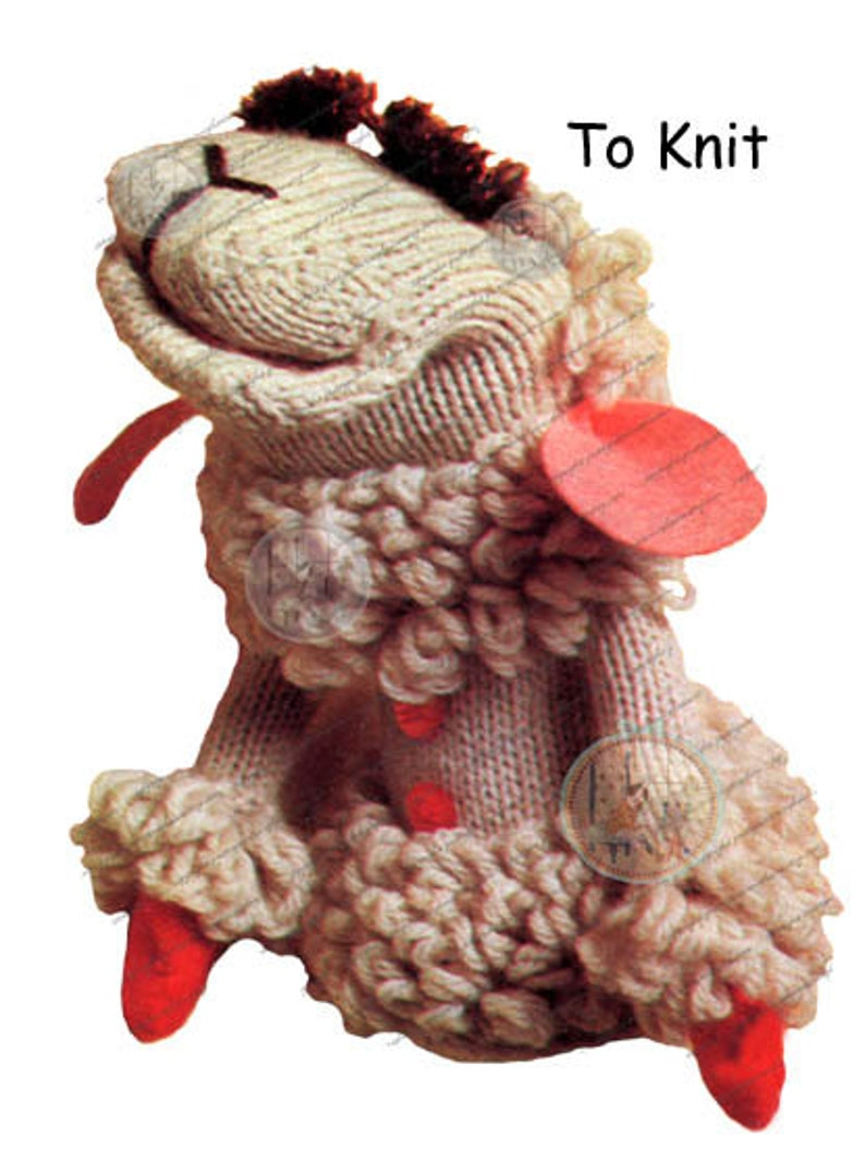 Lamb Chop Puppet Pattern to Knit or Crochet From Vintage ...