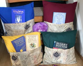 Harry Potter (Marauder's Map) inspired Reading Cushion