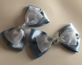 Disney Inspired Cinderella Hair Bow with glass slipper or butterfly (Cinderelly)