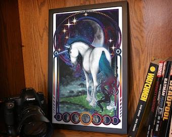 Moon Tarot Unicorn Poster