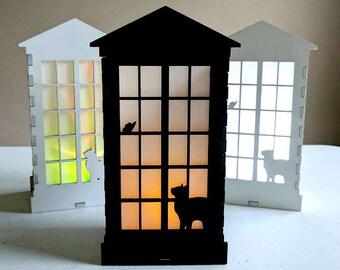 Cat Window Lantern