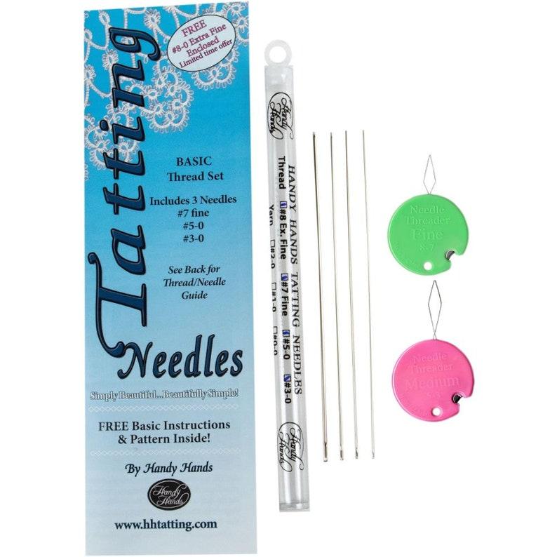 Tatting Needle  Size 5-0  Includes Basic Instructions /& Pattern