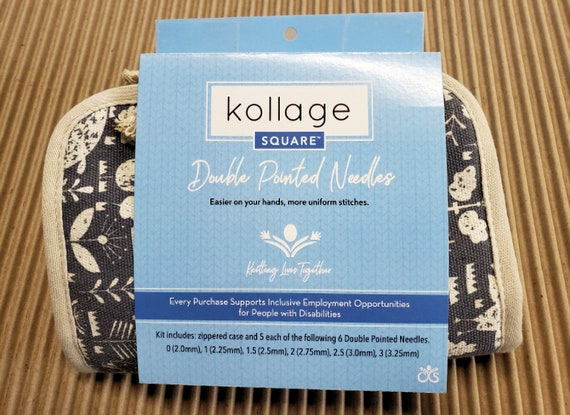 15cm Square Kollage Knitting Needle Double Point 6 Inch