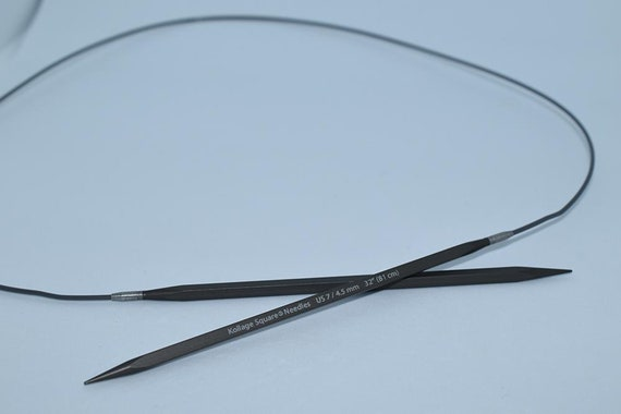 """2.00 mm :Square Knitting Needles Firm Cable: 152 cm 0 US Kollage 60/"""""""