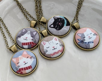 Small Cat Necklace, Cute Jewelry, Unique Gift For Her