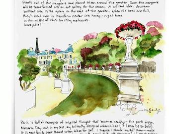 Jardin du Luxembourg: Paris Letters, April letter about Springtime in Jardin du Luxembourg
