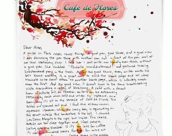 Café de Flores: Paris Letters, Februrary letter about famous Paris cafés