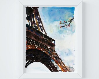 Eiffel Tower Print, sent FLAT by Janice MacLeod, author of Paris Letters