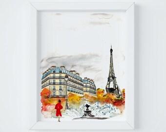 Paris Letter Autumn Print, sent FLAT by Janice MacLeod, author of Paris Letters
