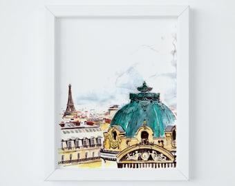 Paris Letter Opera Print, sent FLAT by Janice MacLeod, author of Paris Letters