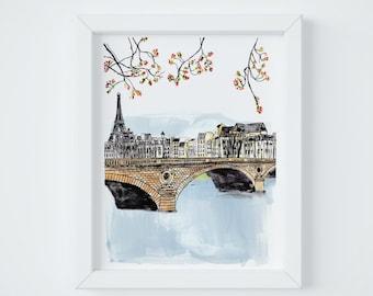 Paris Letter Bridge Print, sent FLAT by Janice MacLeod, author of Paris Letters