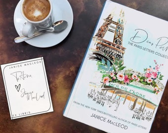 Signed bookplates! THREE autographed bookplates from Janice MacLeod, Paris Letters, A Paris Year, Dear Paris, FREE SHIPPING