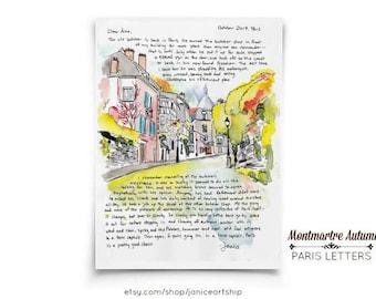 Montmartre Autumn: Paris Letters, October letter about autumn and my second favourite boucher