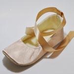 Toddler Girl Shoes Baby Girl Shoes Couture Baby Shoes Champagne Flower Girl Shoes Couture Ballet Slipper Flower Girl Ballet Flat - JANE