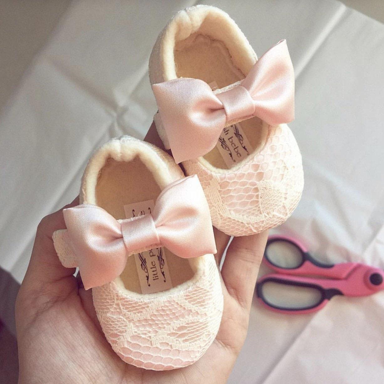 Blush Toddler Girl Shoes Blush Baby Girl Shoes Soft Soled Etsy