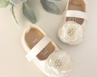 Toddler Girl Shoes ivory Baby Girl Shoes Soft Soled Shoes white Wedding Shoes Easter Shoes pink Flower Girl Shoes - Aria- LOTS OF COLORS