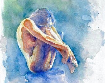 "LARGE Watercolor Giclee Print - ""Unfurling"""