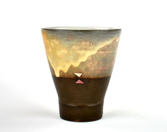 Cup with Pink Triangles