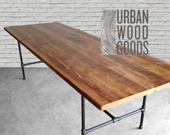 Reclaimed Wood Dining Table Etsy - Refurbished wood dining room table