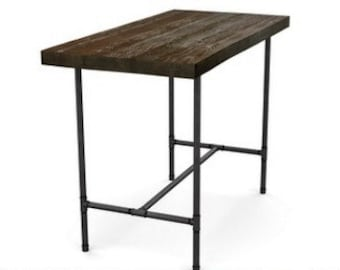 Reclaimed Wood Bar Table Walnut Finish In Pic 1, Counter/Bar Height Wood  Table, Reclaimed Pub Table. Choose Size Height And Finish.