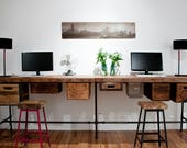 Barn Wood Desk and Work Stations made in standard or L Shape-choice of style, size, wood thickness finish.