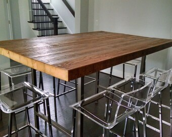 High Top Table Etsy - Reclaimed wood high top table